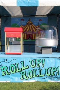 Popcorn and Candyfloss Fairground Side Stall