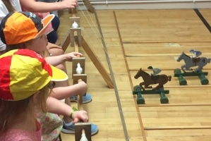 Wooden Twiddle Horse Racing