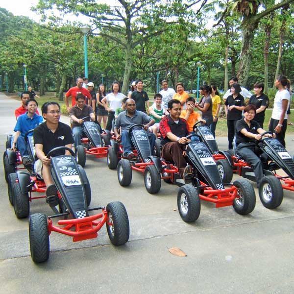 Adult Pedal Go Karts Hire Bbc Inflatables 01905 841902