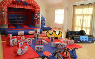 Hero Bounce n Slide Soft Play Package