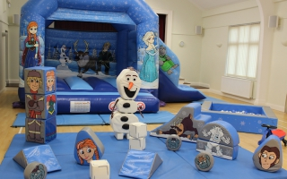 Blue Princesses Bounce n Slide Soft Play Package