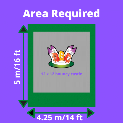 12x12 Bouncy Castle Area Required
