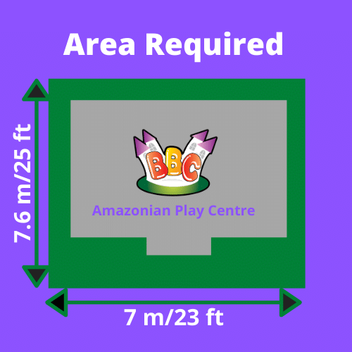 Amazonian Play Centre Area Required