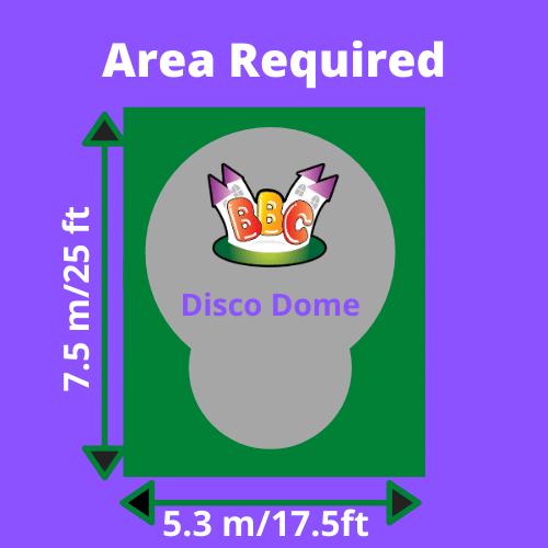 Disco Dome Area Required