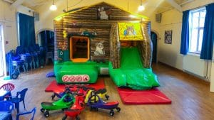 Beckford Village Hall with bounce and slide