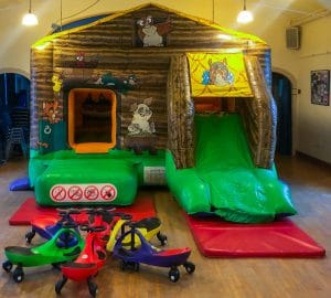 Beckford Village Hall Filled with bouncy castle