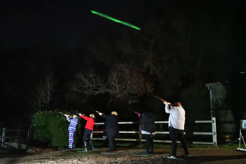 Laser Clay Night Shooting