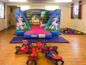 St Mark Church hall with equipment