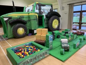 Tractor Bounce and Slide Premium Soft Play Package