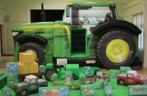 Tractor Bounce and Slide Soft Play Package Deluxe