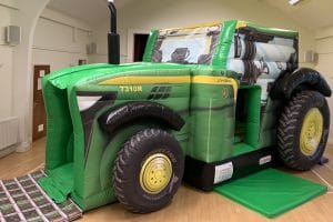 Tractor Bouncy Castle and Slide