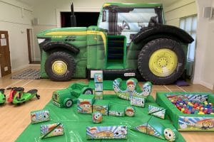 Tractor Bouncy Castle Soft Play Package_8405