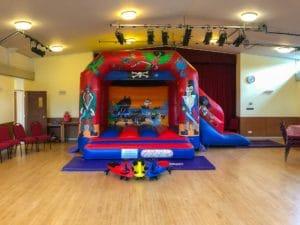 Full hall with setup