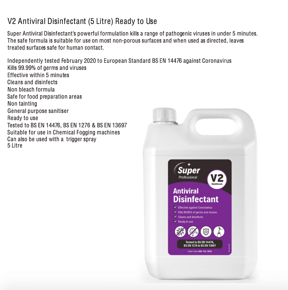V2 Antiviral Disinfectant